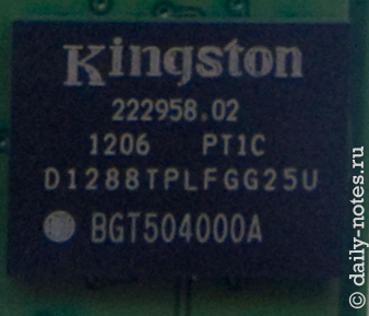 Чипы памяти Kingston